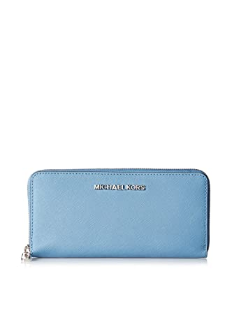7bedd2e10216f5 Michael Michael Kors Travel Zip Around Continental Wallet (Sky) at Amazon  Women's Clothing store: