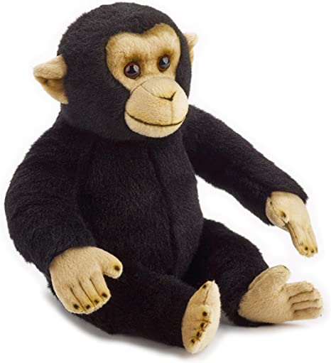 National Geographic 9770836 Schimpanse Plüschtier Schwarz Spielzeug