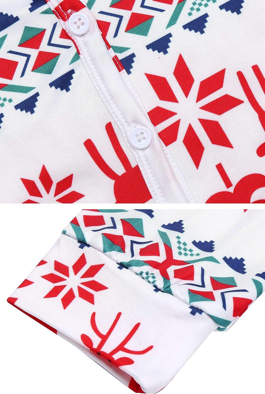 UNibelle Femme V/êtements Thermiques Combinaison Barboteuse Onesie Underwear V/êtements de Nuit T-Shirt Thermique avec sous-v/êtements Thermiques S-XXL