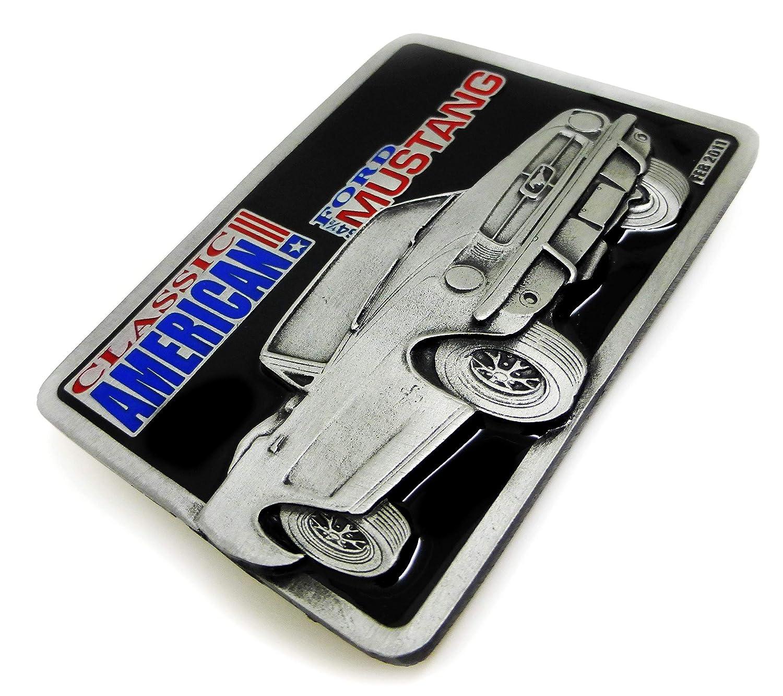 Authentique Licence Officielle Dragon Designs Produit de Marque Ford Mustang Boucle de Ceinture 64 Capote Cabriolet Conception