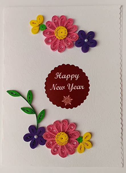 Card in colour happy new year hand made greeting card amazon card in colour happy new year hand made greeting card m4hsunfo