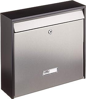 Alsino Briefkasten Postkasten Wandbriefkasten Stahlbriefkasten pulverbeschichtet Befestigungsmaterial inklusive BRK 66007 wei/ß 2 Schl/üsseln