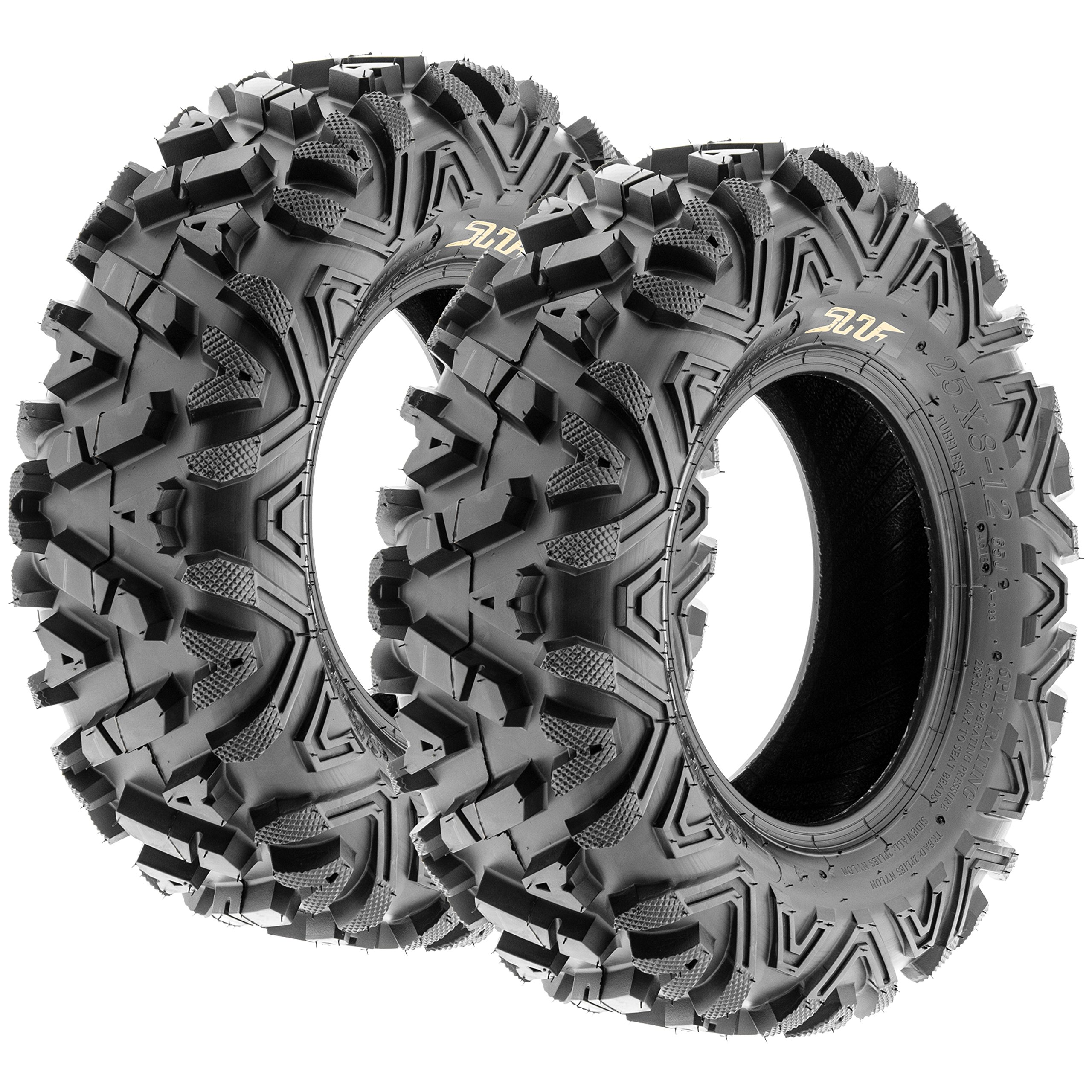 Sun.F A033 ATV UTV Tires Set of 2 ,6 Ply (25x8-12)