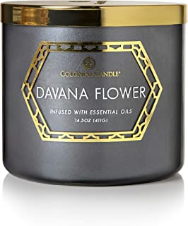product image for Colonial Candle 14.5Oz Geo Luxe - Davana Flower, 3 Wick Scented Jar Candle