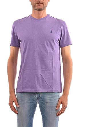 Ralph Lauren T-Shirt m/m Polo Viola: Amazon.es: Ropa y accesorios