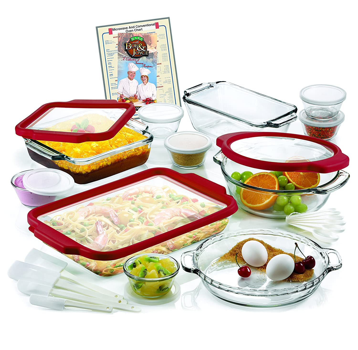 Anchor Hocking 32-Piece Ovenware Set with TrueFit TM See-Thru Lid AH32TF