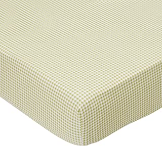 product image for SheetWorld Fitted Pack N Play (Graco Square Playard) Sheet - Sage Gingham Jersey Knit - Made In USA