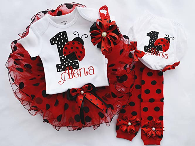 Amazon First Birthday Outfit Girlladybug Birthday Outfit1st