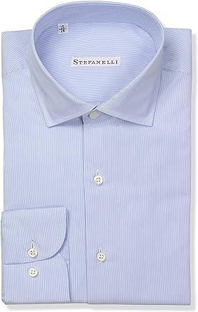 Stefanelli - Camisa Formal - Manga Larga - para Hombre Celeste Chiaro: Amazon.es: Ropa y accesorios