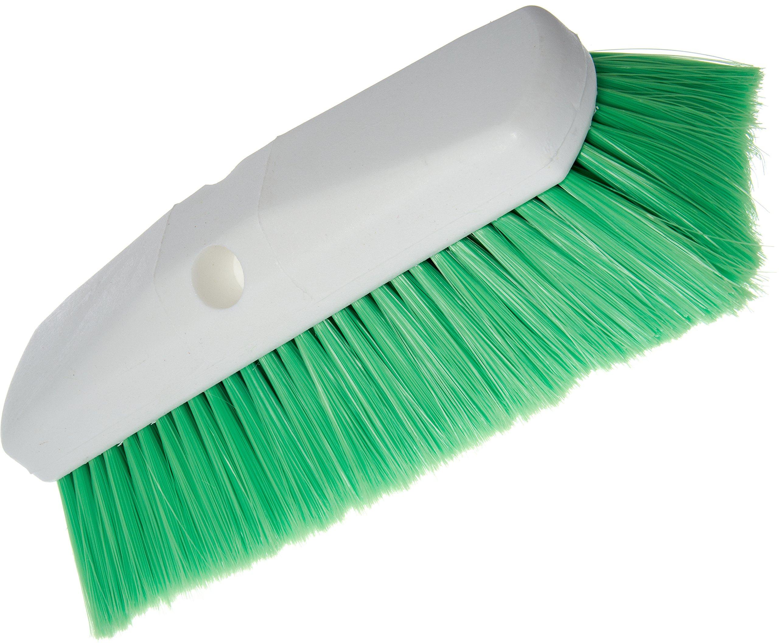 Carlisle 4127875 Sparta Spectrum Flo-Pac Flo-Thru Wall & Equipment Brush, Plastic Block, 2-1/2''-Long Green Flagged Nylex Bristles, 10'' L x 2-1/2'' W (Case of 12)