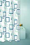 HOMESTYL Duschvorhang QUADRO AZURE 180x200 cm Modern & Trendig Vorhang