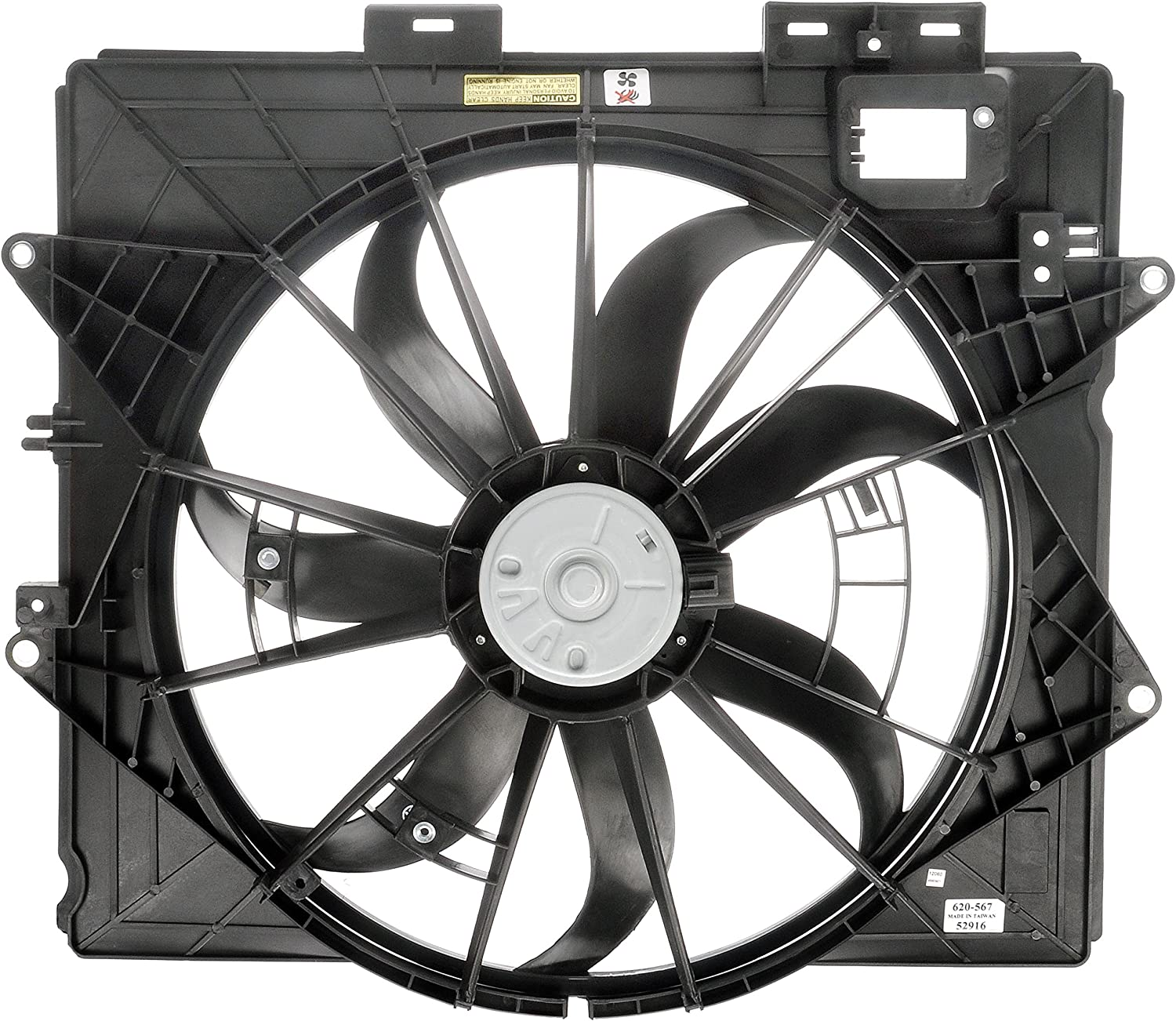 Dorman 620-835 Radiator Fan Assembly Without Controller