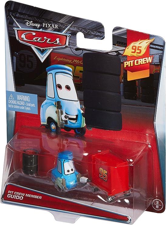 "Scale 1:55 DISNEY PIXAR CARS /""PIT MEMBER GUIDO/"" Die-Cast Metal New Mattel"