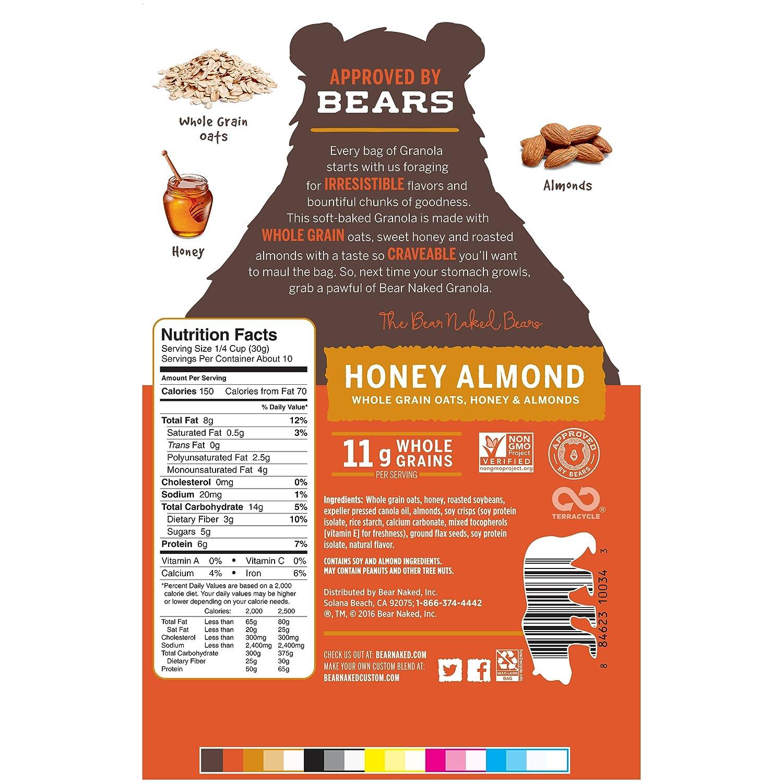 Amazon.com: Bear Naked Granola, Honey Almond Protein, 11.2 oz: Breakfast  Bars