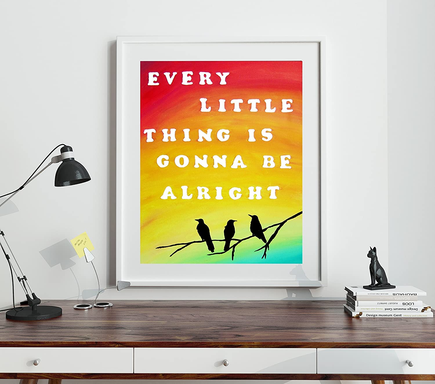Amazon.com: Every Little Thing Is Gonna Be Alright Home Decor Three ...