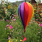 In the Breeze Rainbow 12-Panel Hot Air Balloon Wind Spinner