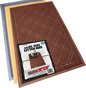 iPrimio Cat Litter Mat – Anti-Slip XL Size 35 x 23.5 inches - Traps Litter from Paws and Box – Phlatlate and BPA Free Extra Soft Mesh - Suitable for Giant, Jumbo, Small Cats and Kitten