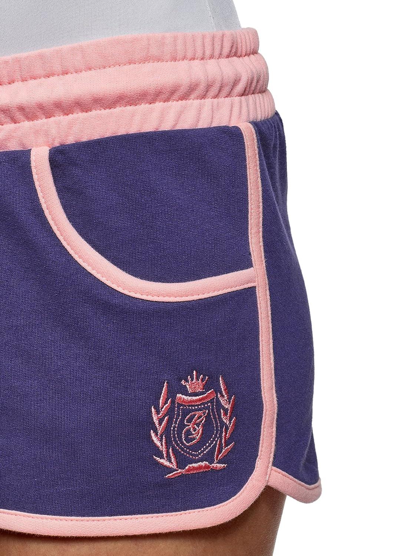 oodji Ultra Damen Baumwoll-Shorts mit Stickerei  Amazon.de  Bekleidung e477cea3d2