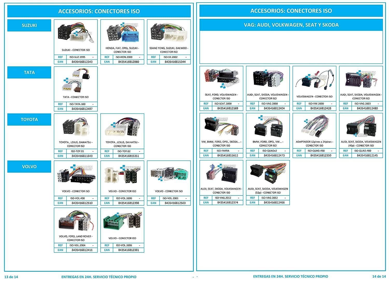 Daewoo ISO-SY.2002 Connettore ISO universale per installazione autoradio su Ssang Yong Suzuki