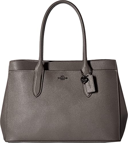 a6dca41cd44 COACH Women s Bailey Carryall in Crossgrain Leather Dk Heather Grey One Size