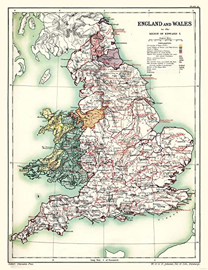Full Map Of England.Amazon Com Maps Of The Past International Map England And Wales