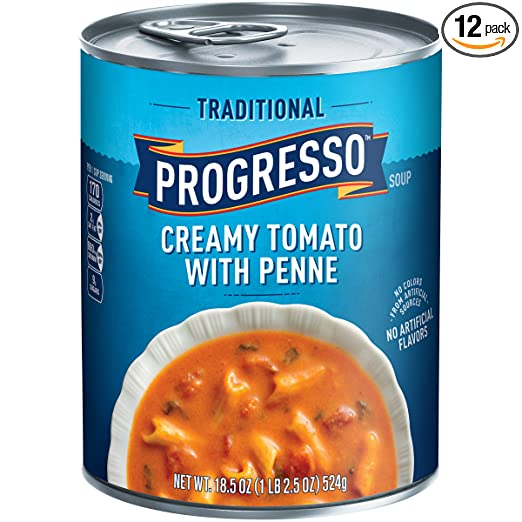 Progresso Traditional Creamy Tomato with Penne Soup 18 5 oz Pull-Top Can  (pack of 12)