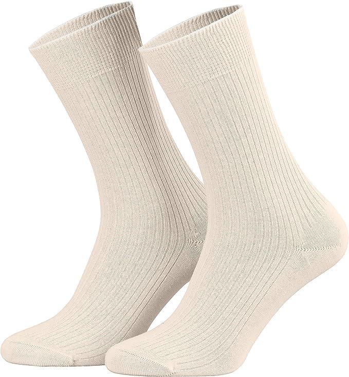 piarini 100% algodón calcetines Natural Sin Costuras Agua hirviendo para hombre y mujer Beige naturaleza: Amazon.es: Ropa y accesorios