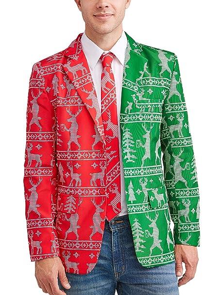 Amazon.com: Traje de Navidad chaqueta y corbata para hombres ...