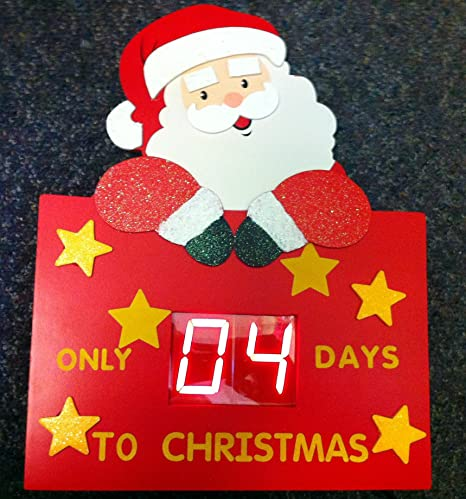 wooden digital countdown days to santa christmas decoration electronic timer