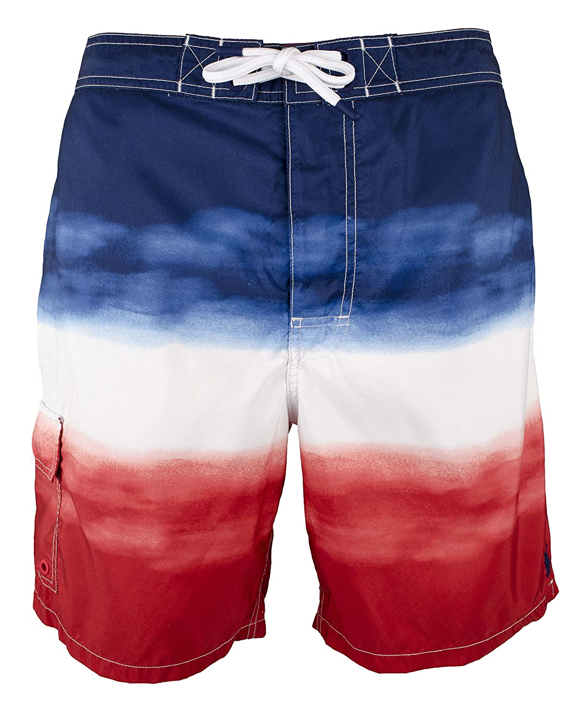2d7371a86 Top7  Polo Ralph Lauren Mens 4th July Ombre Patriotic Swim Trunks