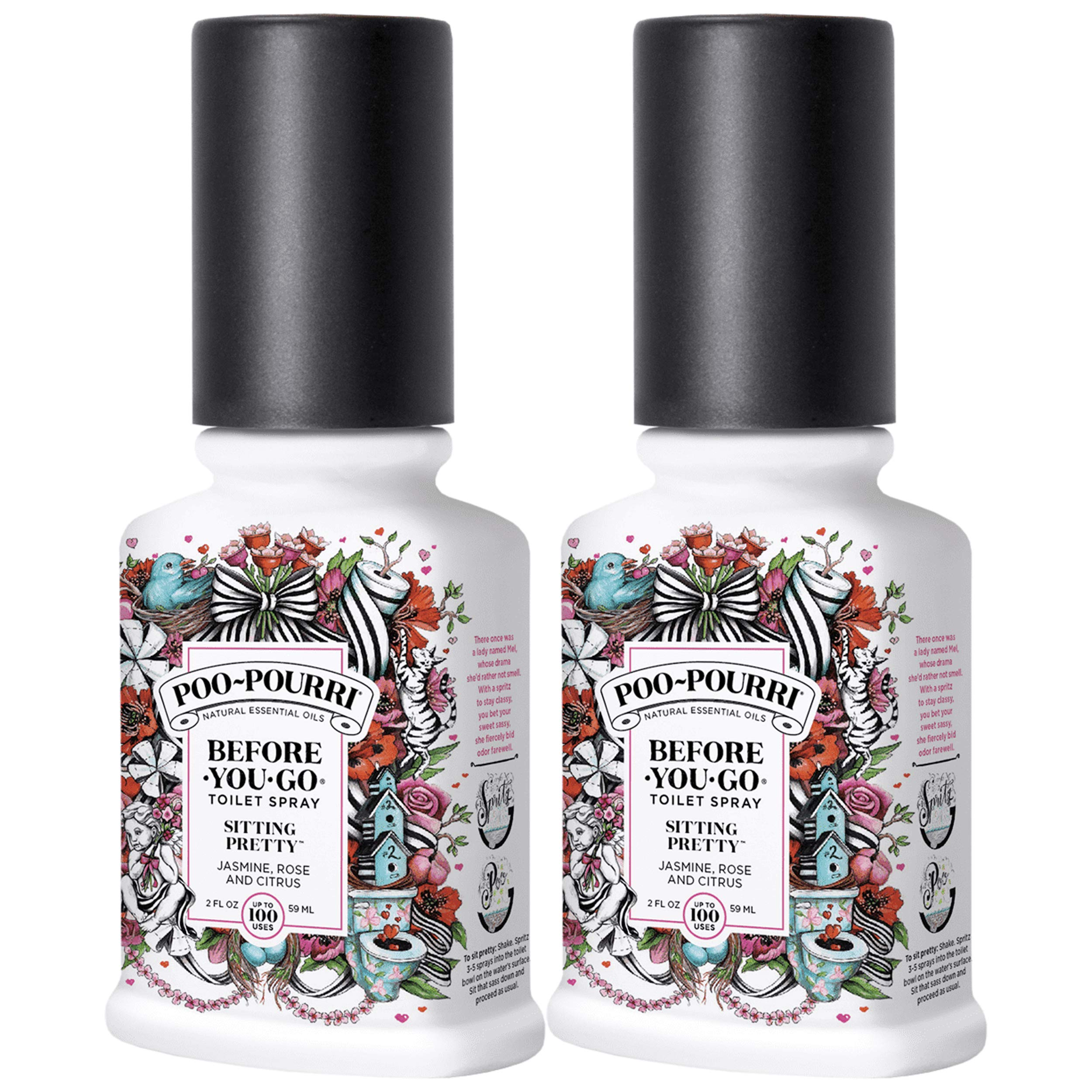 Poo-Pourri Before-You-Go Toilet Spray Bottle, 2 ounce Pack of 2 by Poo-Pourri (Image #1)