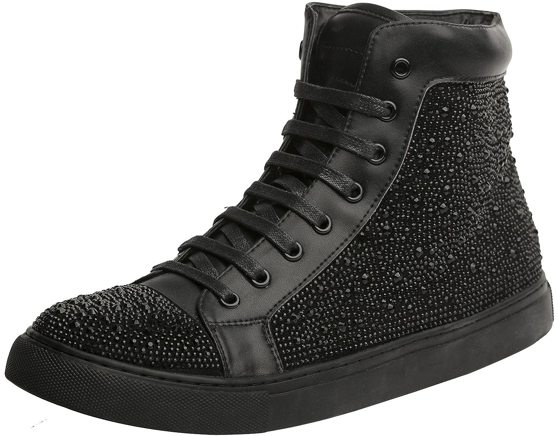 J75 by Jump Mens Zoltar High-Top Fashion Sneaker Black 10 D US