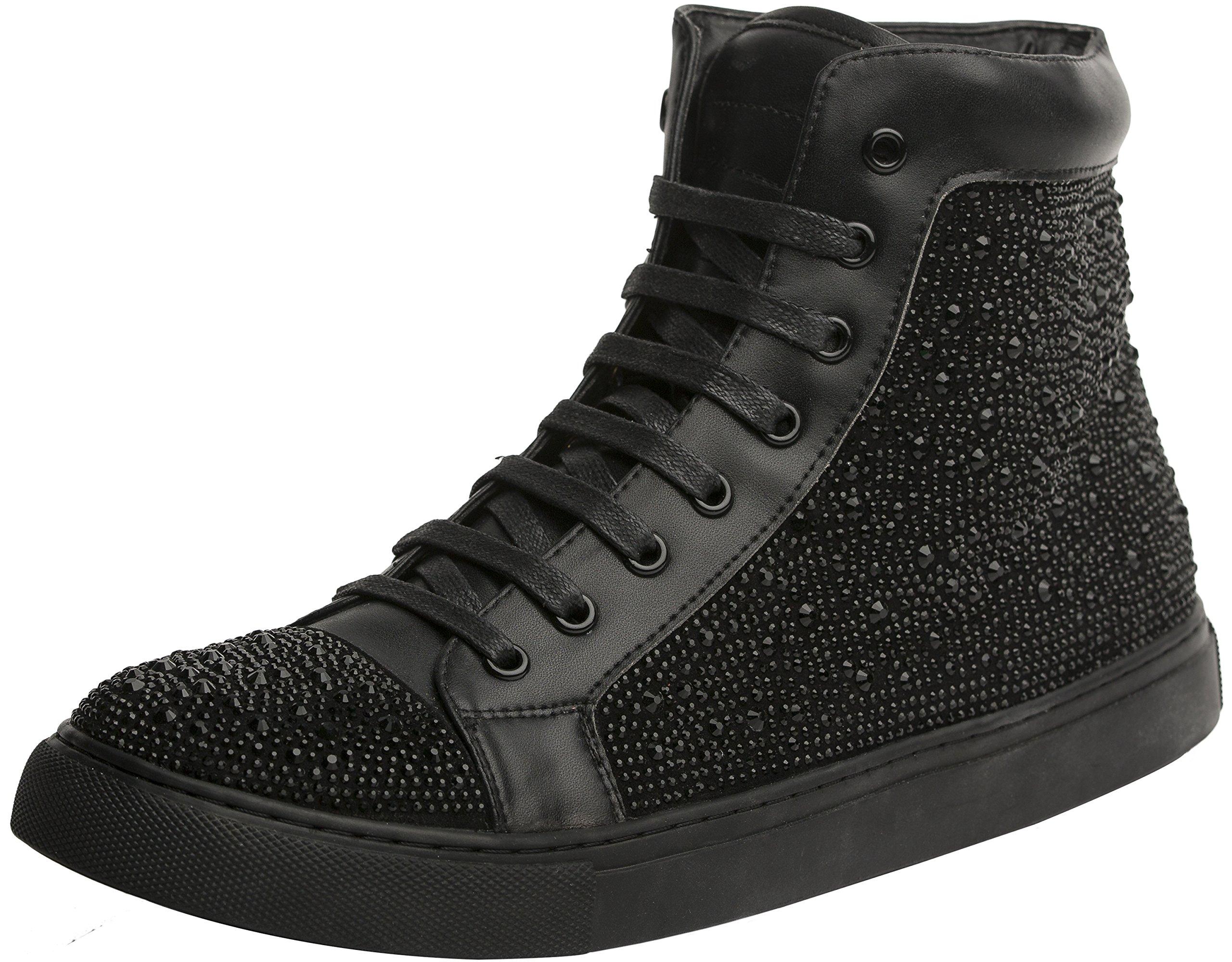 J75 by Jump Men's Zoltar High-Top Fashion Sneaker Black 10 D US