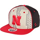 best service cdfa6 b8af7 ZHATS NCAA Nebraska Cornhuskers Men s Reflector Snapback Hat, Silver Red,  Adjustable