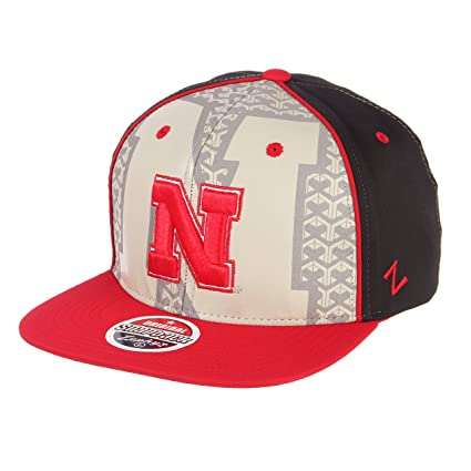 685e38669965d ... reduced zephyr ncaa nebraska cornhuskers mens reflector snapback hat  silver red adjustable af98d 738d0