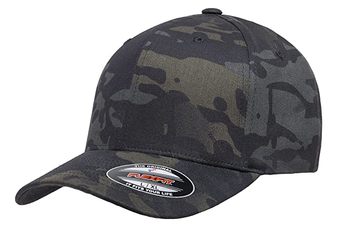 2ec64e36 Flexfit Multicam 6 Panel Baseball Cap Officially Licensed Multi-Cam 2  Patterns Black Camo or Green Camo