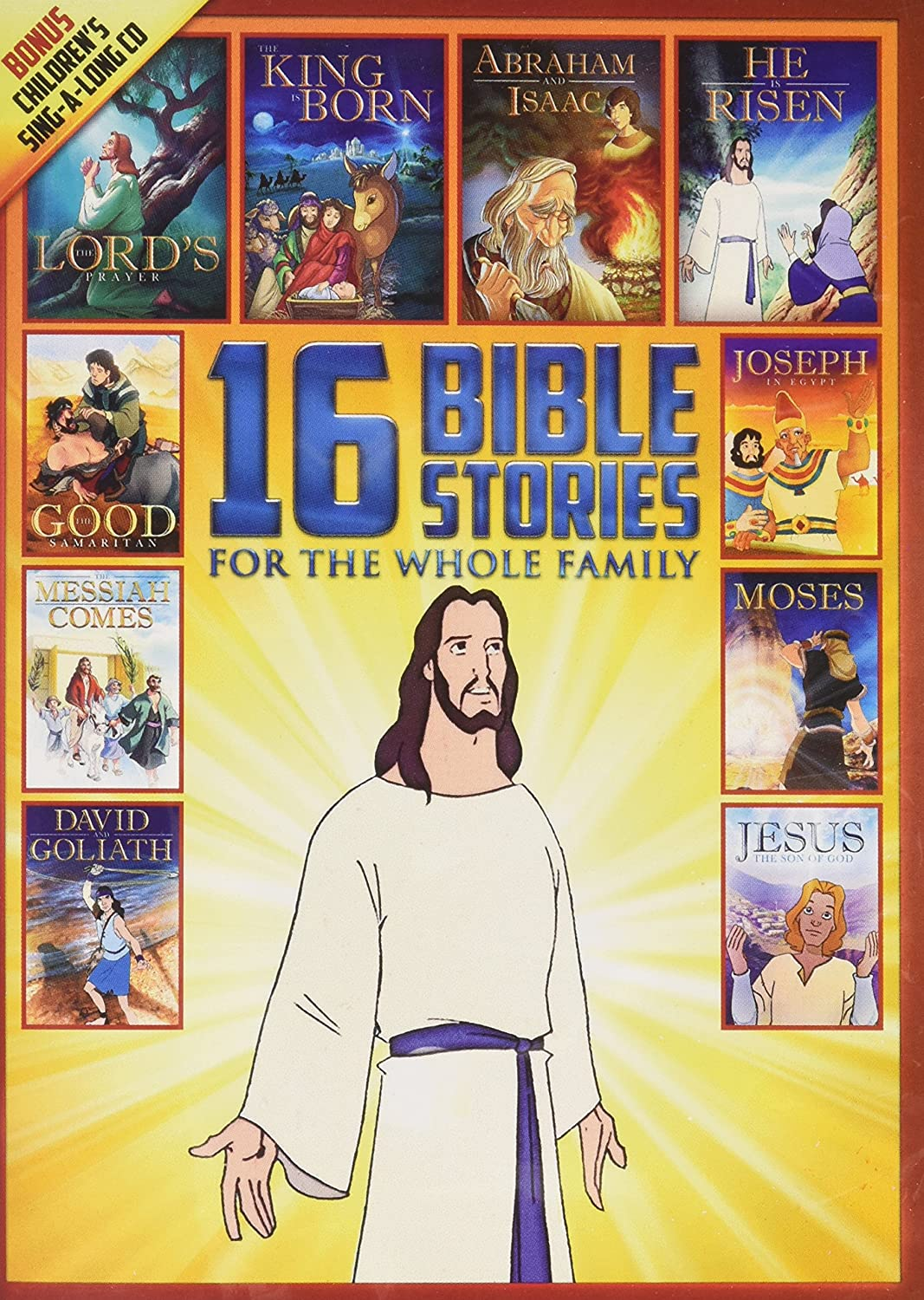 amazon com 16 new and old testament bible stories for the whole