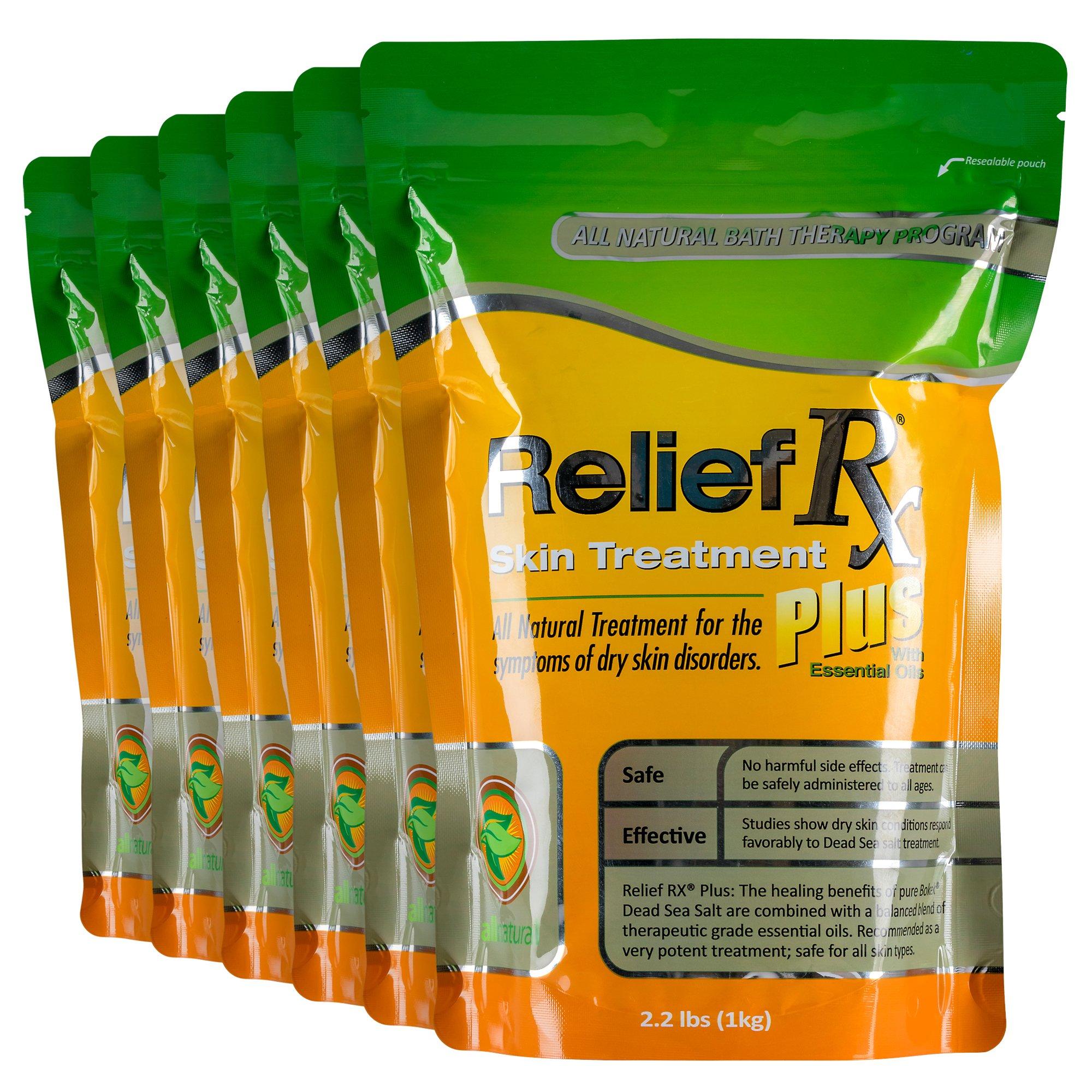 Relief RX Plus Psoriasis Treatment Dead Sea Salt, 6 Count
