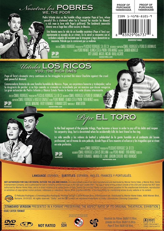 Amazon.com: Coleccion Pedro Infante: La Trilogia de Pepe El Toro (3FE): Pedro Infante, Evita Muñoz Chachita, Carmen Montejo, Blanca Estela Pavón, ...
