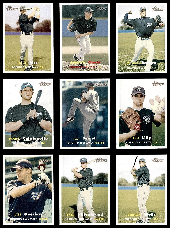 2006 Topps Heritage Toronto Blue Jays Almost Complete Team Set Toronto Blue Jays (Baseball Set) Dean's Cards 8 - NM/MT Blue Jays 91E6mp1udlL