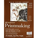 "Strathmore Paper 400 Series Printmaking Pad, Heavyweight, 8""x10"", White, 20 Sheets"