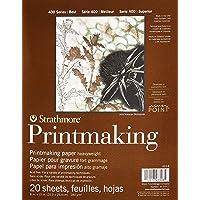 "Strathmore Paper 400 Series Printmaking Pad, Heavyweight, 8""x10"", White, 20 Sheets"