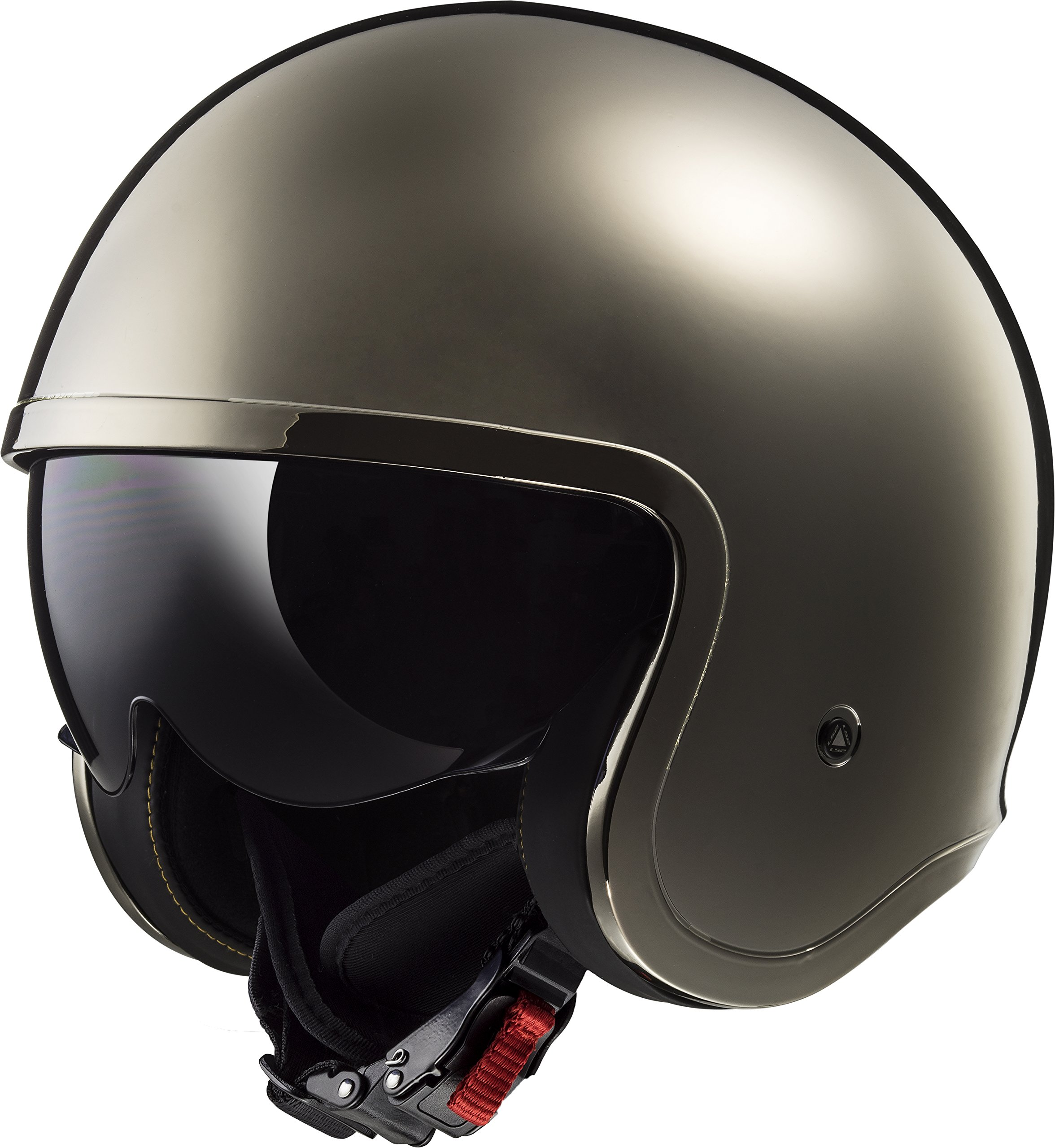 Galleon ls2 helmets motorcycle s solid spitfire black chrome medium