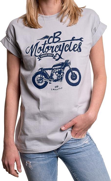 camiseta mujer moto