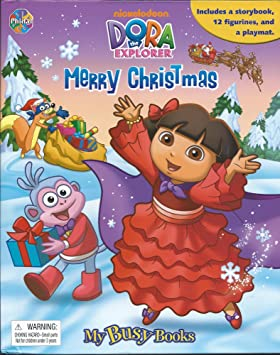 My Busy Books Dora Explorer Merry Christmas Storybook 12 Figures ...