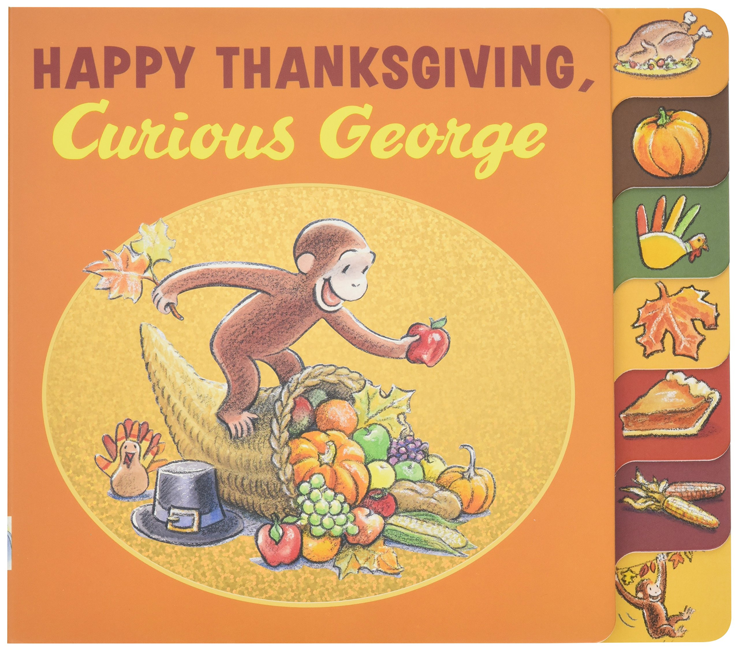 Happy Thanksgiving Curious George tabbed board book