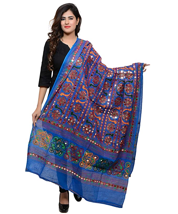 Banjara Women's Kutchi Work Dupatta Bharchak Chunnis & Dupattas at amazon