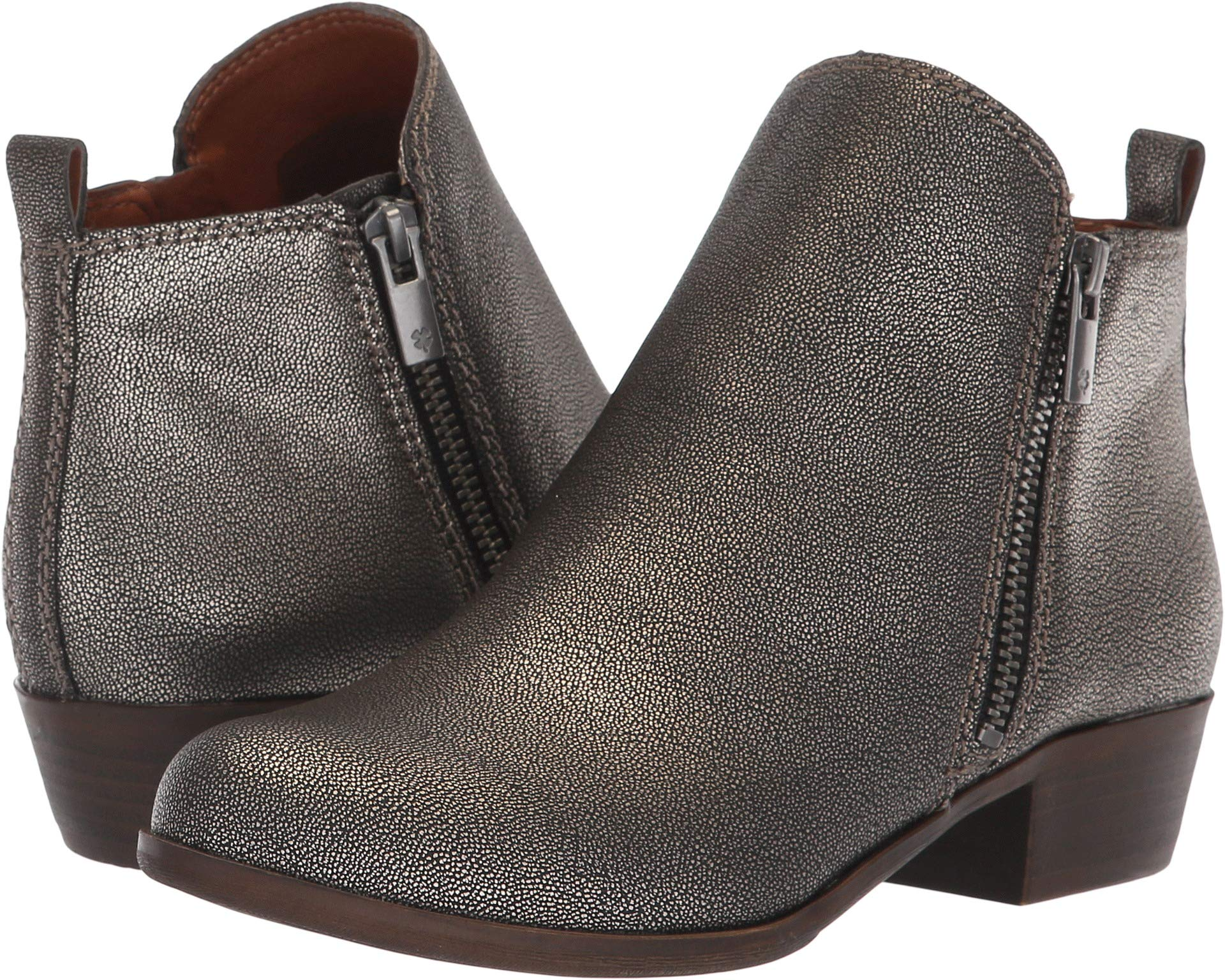 Lucky Brand Girls Yg Basel Ankle Zipper Chelsea, Pewter, Size 2 M Girls Youth