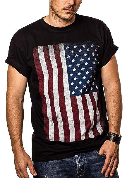 T Americana Makaya Uomo Vintage Shirt Bandiera Usa Maglietta dxohsQrCtB