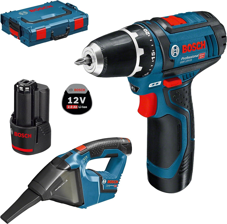 Bosch 0615990GE3 Taladro + Aspirador, 12 V